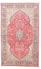 Kashmir Puur Zijde Vloerkleed 92X154 Echt Oosters Handgeknoopt Beige/Lichtroze (Zijde, India)