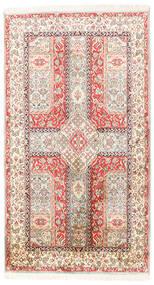 Kashmir Puur Zijde Vloerkleed 91X163 Echt Oosters Handgeknoopt Beige/Lichtgrijs (Zijde, India)