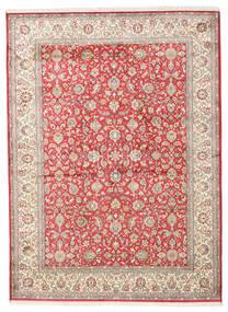 Kashmir Puur Zijde Vloerkleed 158X216 Echt Oosters Handgeknoopt Beige/Lichtgrijs (Zijde, India)
