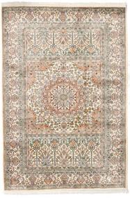 Kashmir Puur Zijde Vloerkleed 127X186 Echt Oosters Handgeknoopt Lichtgrijs/Beige (Zijde, India)