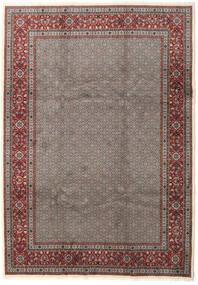 Moud Vloerkleed 245X345 Echt Oosters Handgeknoopt Donkergrijs/Bruin (Wol/Zijde, Perzië/Iran)