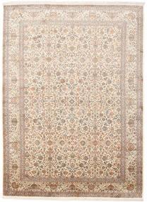 Kashmir Puur Zijde Vloerkleed 246X336 Echt Oosters Handgeknoopt Beige/Bruin (Zijde, India)