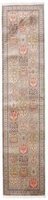 Kashmir Puur Zijde Vloerkleed 79X353 Echt Oosters Handgeknoopt Tapijtloper Lichtgrijs/Beige (Zijde, India)