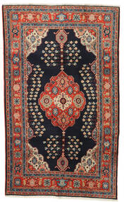 Kazak Vloerkleed 120X194 Echt Oosters Handgeknoopt Donkerblauw/Donkerrood (Wol, Afghanistan)