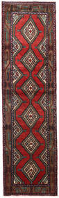 Hamadan Vloerkleed 84X305 Echt Oosters Handgeknoopt Tapijtloper Donkerrood/Zwart (Wol, Perzië/Iran)