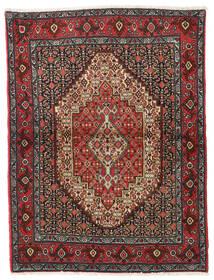 Senneh Vloerkleed 122X164 Echt Oosters Handgeknoopt Donkerrood/Donkergrijs (Wol, Perzië/Iran)