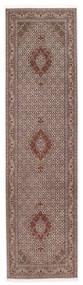 Tabriz 50 Raj Sherkat Farsh Vloerkleed 80X300 Echt Oosters Handgeknoopt Tapijtloper Donkerrood/Lichtgrijs (Wol/Zijde, Perzië/Iran)