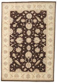 Ziegler Vloerkleed 197X290 Echt Oosters Handgeknoopt Beige/Donkerbruin (Wol, Pakistan)