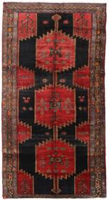 Hamadan Vloerkleed 145X278 Echt Oosters Handgeknoopt Donkerrood/Zwart (Wol, Perzië/Iran)