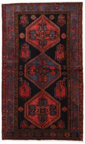 Hamadan Vloerkleed 125X213 Echt Oosters Handgeknoopt Donkerrood (Wol, Perzië/Iran)