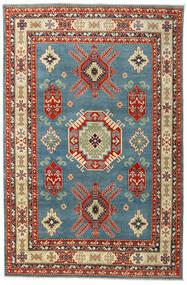 Kazak Vloerkleed 199X302 Echt Oosters Handgeknoopt Donkerrood/Blauw (Wol, Afghanistan)
