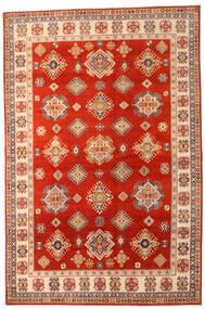 Kazak Vloerkleed 205X310 Echt Oosters Handgeknoopt Roestkleur/Lichtbruin (Wol, Afghanistan)