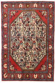 Koliai Vloerkleed 128X190 Echt Oosters Handgeknoopt Donkerrood/Donkerbruin (Wol, Perzië/Iran)