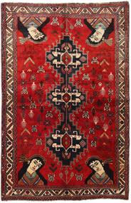 Ghashghai Vloerkleed 158X247 Echt Oosters Handgeknoopt Donkerrood/Roestkleur (Wol, Perzië/Iran)