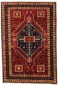 Ghashghai Vloerkleed 166X242 Echt Oosters Handgeknoopt Donkerrood/Donkerbruin (Wol, Perzië/Iran)