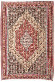Kelim Senneh Vloerkleed 202X298 Echt Oosters Handgeweven Beige/Bruin (Wol, Perzië/Iran)