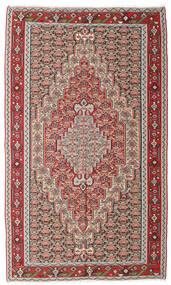 Kelim Senneh Vloerkleed 150X251 Echt Oosters Handgeweven Lichtgrijs/Bruin (Wol, Perzië/Iran)