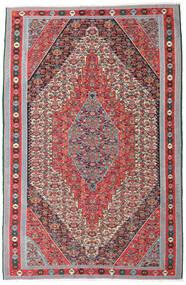 Kelim Senneh Vloerkleed 169X257 Echt Oosters Handgeweven Lichtgrijs/Bruin (Wol, Perzië/Iran)