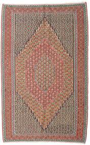 Kelim Senneh Vloerkleed 152X245 Echt Oosters Handgeweven Lichtgrijs/Donkerrood (Wol, Perzië/Iran)