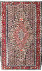 Kelim Senneh Vloerkleed 150X248 Echt Oosters Handgeweven Lichtgrijs/Donkerbruin (Wol, Perzië/Iran)
