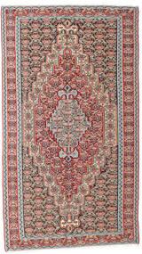 Kelim Senneh Vloerkleed 142X259 Echt Oosters Handgeweven Lichtgrijs/Donkergrijs (Wol, Perzië/Iran)