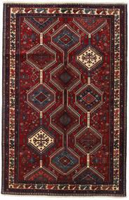 Yalameh Vloerkleed 153X237 Echt Oosters Handgeknoopt Donkerrood (Wol, Perzië/Iran)