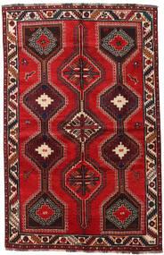 Shiraz Vloerkleed 155X241 Echt Oosters Handgeknoopt Donkerrood/Roestkleur (Wol, Perzië/Iran)