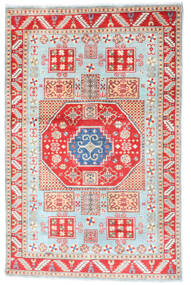 Kazak Vloerkleed 117X181 Echt Oosters Handgeknoopt Beige/Wit/Creme (Wol, Afghanistan)