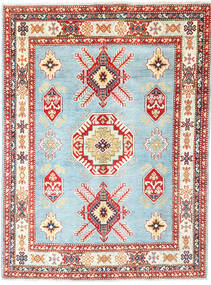 Kazak Vloerkleed 152X206 Echt Oosters Handgeknoopt Beige/Lichtblauw (Wol, Afghanistan)