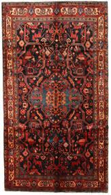 Nahavand Vloerkleed 153X270 Echt Oosters Handgeknoopt Donkerrood/Donkerbruin (Wol, Perzië/Iran)