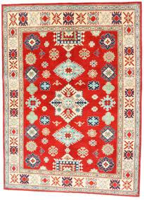 Kazak Vloerkleed 150X204 Echt Oosters Handgeknoopt Rood/Donkerbeige (Wol, Afghanistan)
