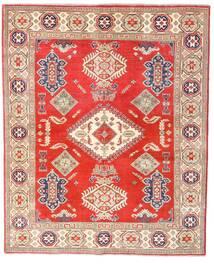 Kazak Vloerkleed 157X192 Echt Oosters Handgeknoopt Rood/Beige (Wol, Afghanistan)