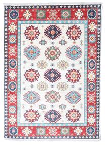 Kazak Vloerkleed 85X121 Echt Oosters Handgeknoopt Beige/Wit/Creme (Wol, Afghanistan)