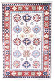 Kazak Vloerkleed 98X149 Echt Oosters Handgeknoopt Wit/Creme/Lichtroze (Wol, Afghanistan)
