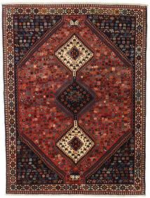 Yalameh Vloerkleed 155X201 Echt Oosters Handgeknoopt Donkerrood/Zwart (Wol, Perzië/Iran)