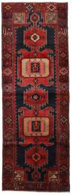 Hamadan Vloerkleed 104X295 Echt Oosters Handgeknoopt Tapijtloper Donkerrood (Wol, Perzië/Iran)