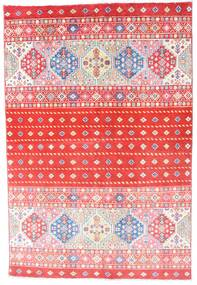Kazak Vloerkleed 121X180 Echt Oosters Handgeknoopt Lichtroze/Rood (Wol, Afghanistan)