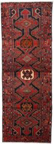 Hamadan Vloerkleed 108X295 Echt Oosters Handgeknoopt Tapijtloper Donkerrood/Zwart (Wol, Perzië/Iran)