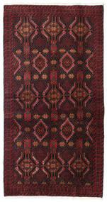 Beluch Vloerkleed 98X186 Echt Oosters Handgeknoopt Donkerrood/Donkerbruin (Wol, Perzië/Iran)