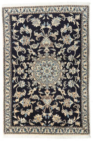 Nain Vloerkleed 90X135 Echt Oosters Handgeknoopt Donkerblauw/Lichtgrijs/Donkergrijs (Wol, Perzië/Iran)