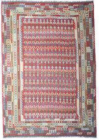 Kelim Afghan Old Style Vloerkleed 312X448 Echt Oosters Handgeweven Lichtgrijs/Donkergrijs Groot (Wol, Afghanistan)