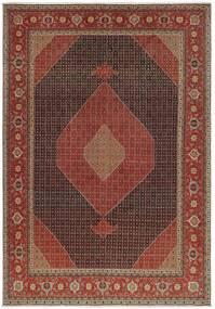 Tabriz 50 Raj Vloerkleed 327X460 Echt Oosters Handgeknoopt Donkerbruin/Bruin Groot (Wol/Zijde, Perzië/Iran)