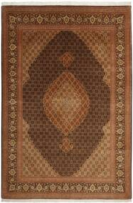 Tabriz 50 Raj Vloerkleed 204X301 Echt Oosters Handgeweven Bruin (Wol/Zijde, Perzië/Iran)