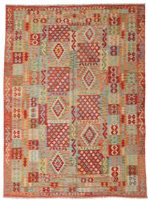 Kelim Afghan Old Style Vloerkleed 252X347 Echt Oosters Handgeweven Lichtbruin/Roestkleur Groot (Wol, Afghanistan)