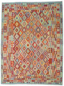 Kelim Afghan Old Style Vloerkleed 267X348 Echt Oosters Handgeweven Donkerrood/Donkergrijs Groot (Wol, Afghanistan)