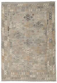 Kelim Afghan Old Style Vloerkleed 205X296 Echt Oosters Handgeweven Lichtgrijs (Wol, Afghanistan)