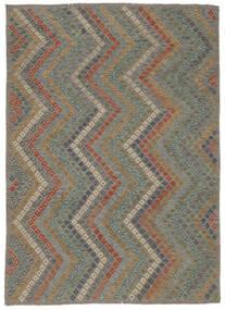 Kelim Afghan Old Style Vloerkleed 213X285 Echt Oosters Handgeweven Lichtgrijs/Donkergrijs (Wol, Afghanistan)