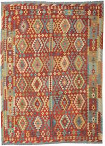 Kelim Afghan Old Style Vloerkleed 253X348 Echt Oosters Handgeweven Donkerrood/Donkerbeige Groot (Wol, Afghanistan)