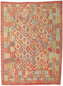 Kelim Afghan Old Style Vloerkleed 251X340 Echt Oosters Handgeweven Rood/Donkerbeige Groot (Wol, Afghanistan)