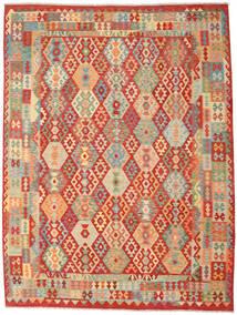 Kelim Afghan Old Style Vloerkleed 262X347 Echt Oosters Handgeweven Roestkleur/Donkerbeige Groot (Wol, Afghanistan)